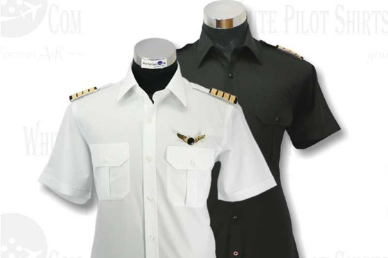 Black & white pilot shirts