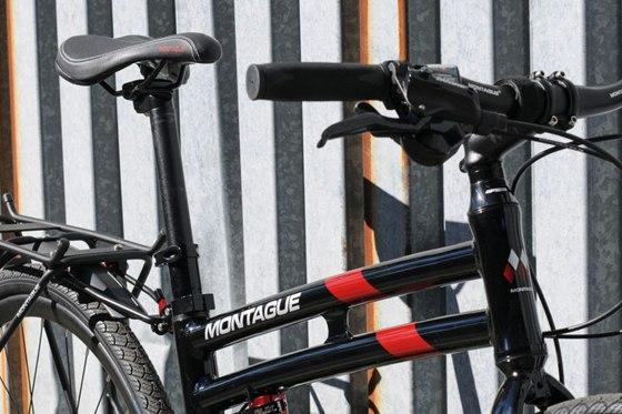 Folding bike close-up