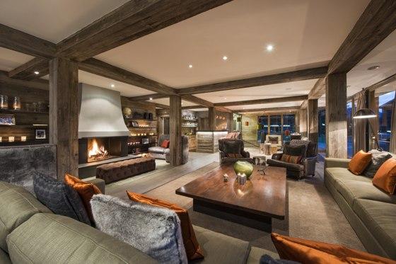 Luxury ski chalet interior