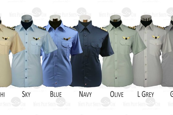 Pilot shirt colour options