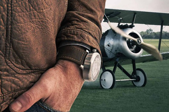 Valour Sopwith watch on wrist
