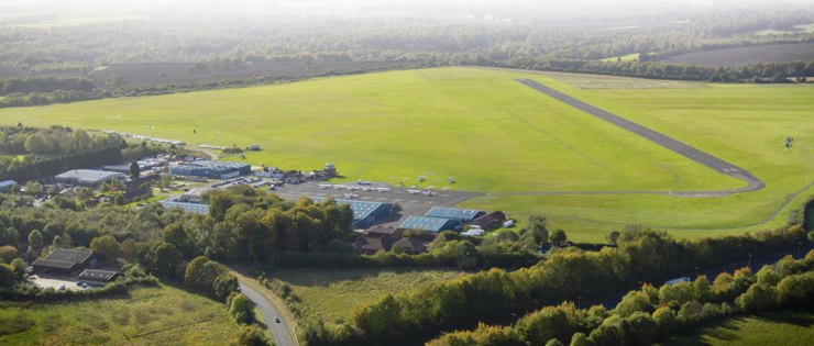 Wycombe Air Park from the air